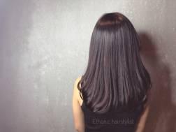 中長髮 內彎