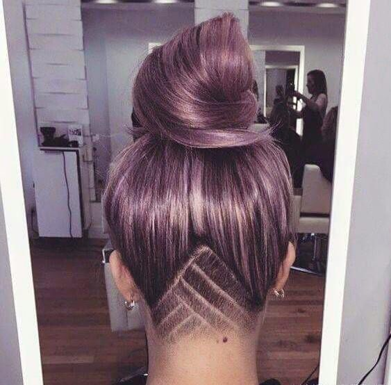 幾何線條式的剃髮