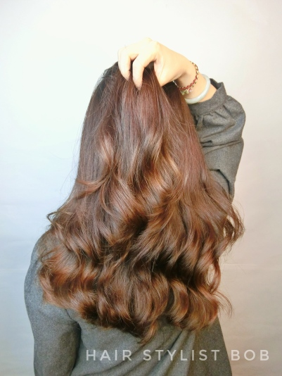 女生 染髮 粉色系 染髮
