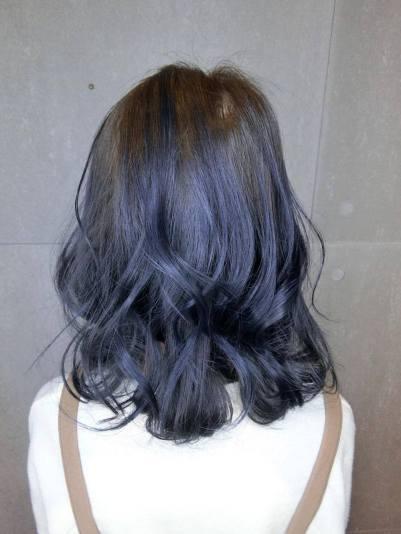 CINCO 染髮 特殊色 髮型 漂髮 藍灰色系