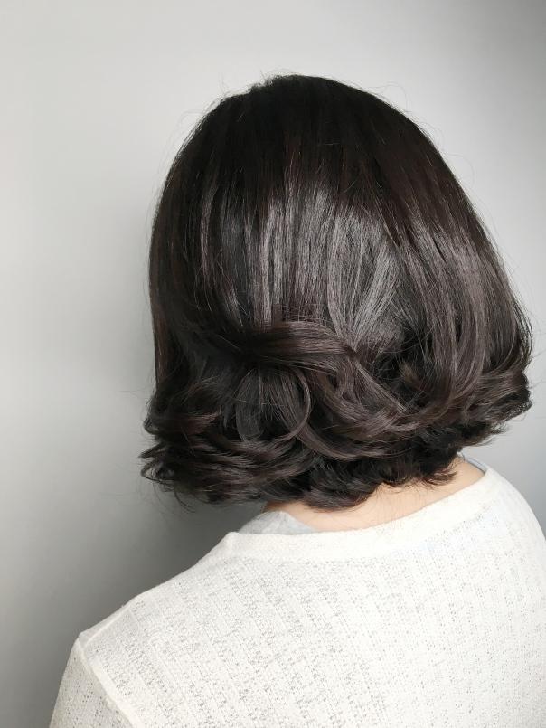 短髮 內彎