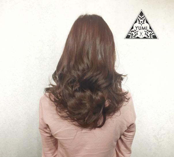 長髮 髮型 捲髮 染髮 Yumi