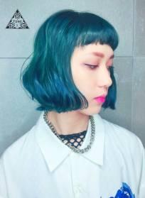 短髮 特殊色 染髮