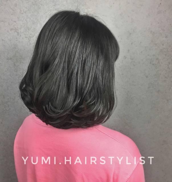 短髮 染髮 內彎 Yumi