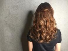 染髮 淺咖啡 長髮 大波浪