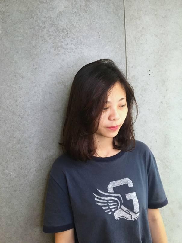 中長髮 內彎 燙髮 Vita