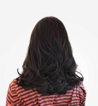 中長髮 大卷 燙髮
