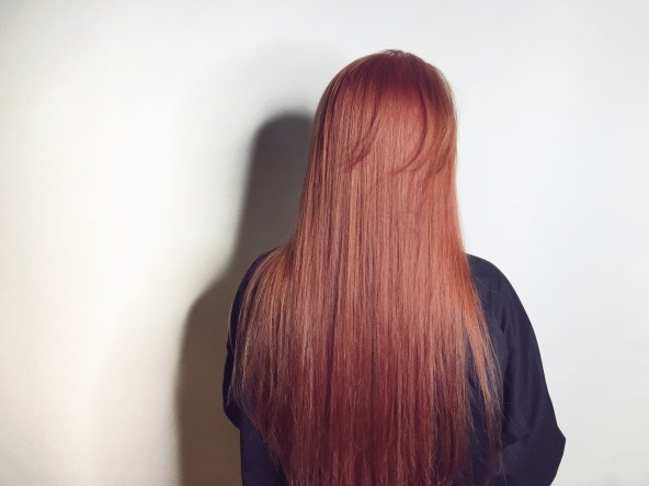 長髮 染髮 玫瑰髮色