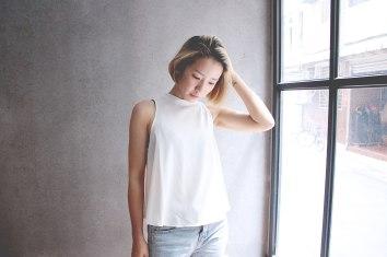 白金的髮色即使不另外上色也可以很美