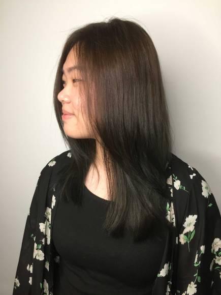 染髮 長髮 髮型 Mona