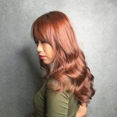 染髮 推薦 波浪捲髮 粉嫩柔光色系