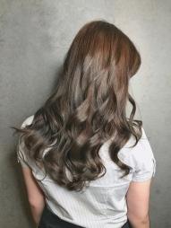 染髮 金屬光 冷棕色