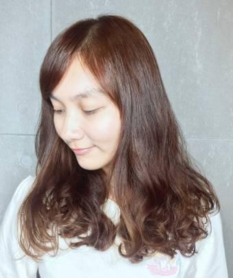 染髮 中長髮 髮型