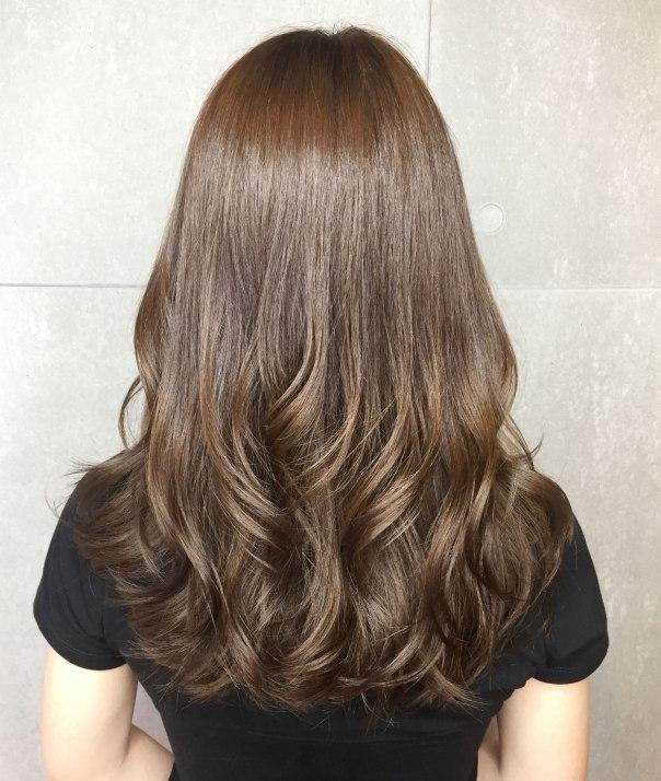 中長髮 燙髮 波浪