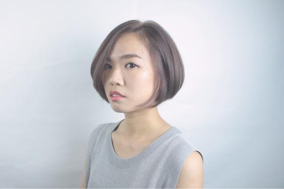 短髮 染髮 內彎