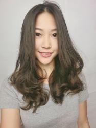 染髮 中長髮 捲髮