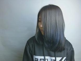 中長髮 漸層染 漂髪