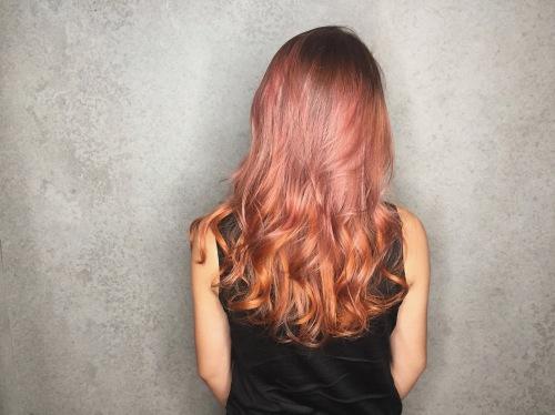 推薦 染髮 漸層玫瑰金 髮色